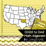 FREEBIE Fifth Grade Oklahoma Academic Standards Math Alignment