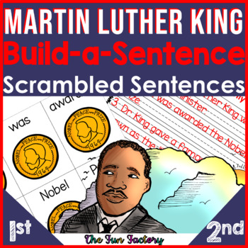 Martin Luther King Activities | MLK Build a Sentence or Scrambled Sentences