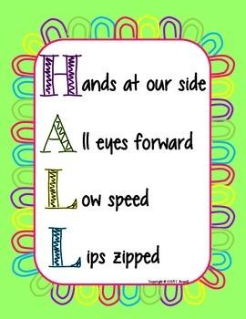 HALL Behavior Management Poster Green