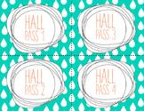 HALL PASS CARDS