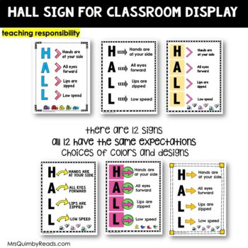 Classroom Management - Walking in the Hall- Sign for Display