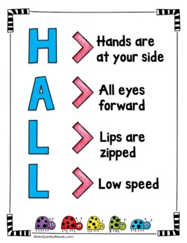 Walking in the Hall | Sign for Display | Classroom Management