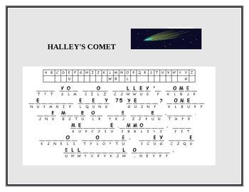 HALLEY'S COMET CRYPTOGRAM W/ANSWER KEY GRADES 4-8