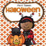 HALLOWEEN Theme Math and Literacy Activities, Printables and Centers Preschool