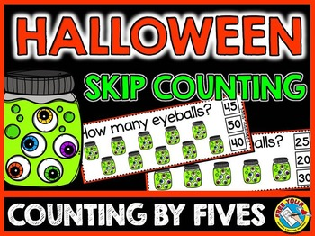 HALLOWEEN MATH CENTER (HALLOWEEN SKIP COUNTING BY 5S OCTOBER THEME)