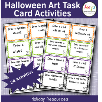 HALLOWEEN - 24 Art Task Cards