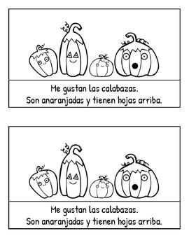 Halloween en español--3 BOOKS, libretas, workbooks,  alta frecuencia, Spanish