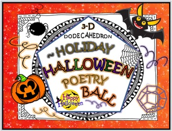 HALLOWEEN POETRY BALL: ACROSTIC POEM ACTIVITY (DODECAHEDRON)
