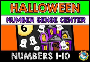 HALLOWEEN ACTIVITY KINDERGARTEN (GHOSTS CENTER) HAUNTED HOUSE NUMBER SENSE GAME