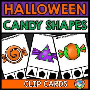 halloween activities kindergarten candy shapes recognition clip cards