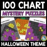 HALLOWEEN ACTIVITY KINDERGARTEN, FIRST GRADE (100 CHART MYSTERY PICTURE PUZZLES