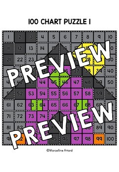 HALLOWEEN ACTIVITY KINDERGARTEN, FIRST GRADE (100 CHART MYSTERY PICTURE PUZZLES