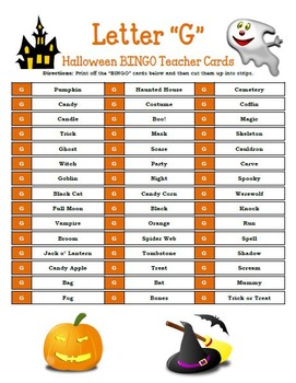 Halloween BINGO Activity