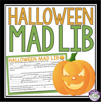 HALLOWEEN ACTIVITY: MAD LIB