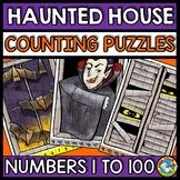 HALLOWEEN ACTIVITY KINDERGARTEN (COUNTING TO 100 PUZZLES OCTOBER MATH CENTER