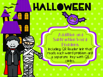 HALLOWEEN ADDITION AND SUBTRACTION WORD PROBLEMS for young