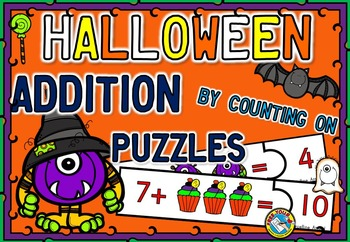 HALLOWEEN ADDITION BY COUNTING ON TASK CARDS: ADDITION UP TO 20