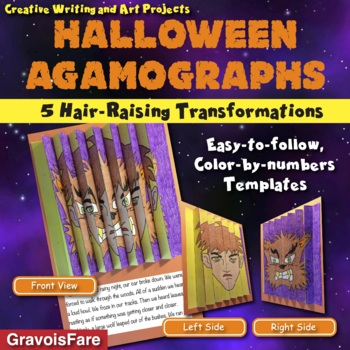 HALLOWEEN Activities and Crafts: Three Color-by-Number Agamographs