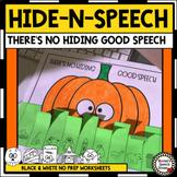HALLOWEEN ARTICULATION HIDE-N-SPEECH PHONOLOGY ARTIC SPEECH THERAPY
