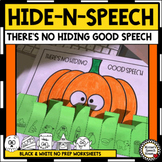 HALLOWEEN ARTICULATION HIDE-N-SPEECH PHONOLOGY ARTIC SPEEC