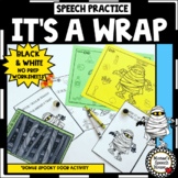HALLOWEEN ARTICULATION NO PREP worksheets SPEECH THERAPY