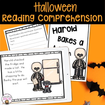 HALLOWEEN ASK AND ANSWER QUESTIONS COMPREHESNION STRATEGY SHARED,GUIDED READING