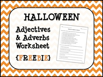 Autumn Adjectives worksheets Activities (Halloween and ...
