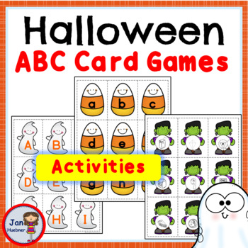 HALLOWEEN Alphabet Cards: Lower Case, Upper Case, and Letter Sounds ACTIVITIES