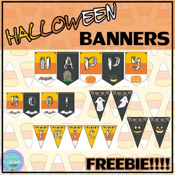 HALLOWEEN BANNERS - FREEBIE