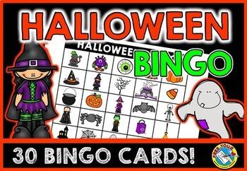 HALLOWEEN ACTIVITIES: HALLOWEEN BINGO GAME FOR WHOLE CLASS: HALLOWEEN GAMES