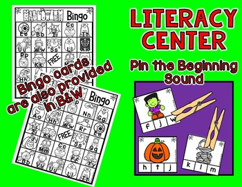 HALLOWEEN BINGO - Includes Digital Resource And Literacy Center