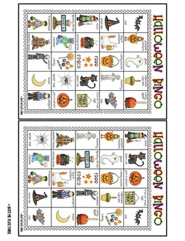It's just a graphic of Bewitching 25 Printable Halloween Bingo Cards