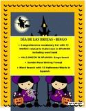 SPANISH HALLOWEEN BINGO-Review Colors/Gender/Nouns- DÍA DE LAS BRUJAS