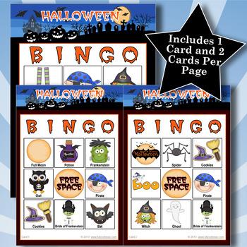 HALLOWEEN - BLUE 3x3 BINGO