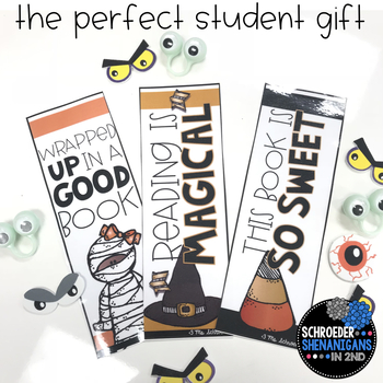 HALLOWEEN BOOKMARKS student gift