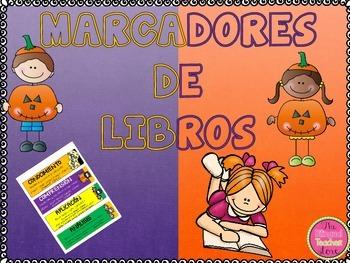 HALLOWEEN BOOKMARS WITH READING SKILLS IN SPANISH