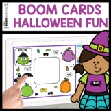 HALLOWEEN BOOM CARD ACTIVITY - BUILD A WITCH AND PUMPKIN