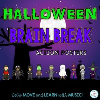 Halloween Brain Breaks for Elementary and Music Teachers K-6