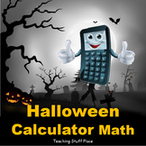 HALLOWEEN CALCULATOR MATH PROBLEMS | Multi-Step Task Cards | Halloween Art