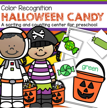 HALLOWEEN CANDY Color Sorting Center for Preschool and Toddlers