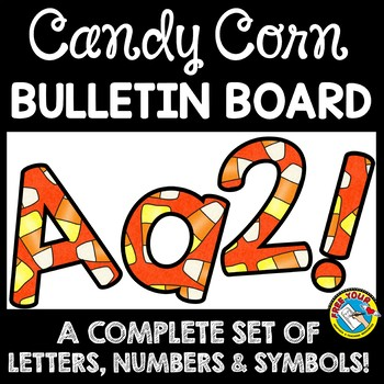 halloween classroom decor candy corn bulletin board letters printable