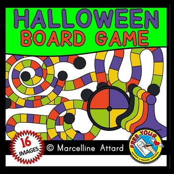HALLOWEEN GAME BOARD CLIPART: BUILD A GAME CLIPART: HALLOWEEN CLIPART