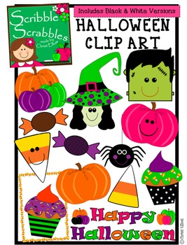 HALLOWEEN CLIP ART with 26 PIECES
