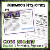 CLOSE READING PASSAGES HALLOWEEN MYSTERIES COMPREHENSION PRACTICE