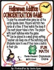 HALLOWEEN CONCENTRATION ADDITION MATH CENTER GAME COMMON C
