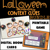 HALLOWEEN CONTEXT CLUES CARDS & GAME (SPEECH & LANGUAGE THERAPY)