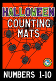 HALLOWEEN MATH CENTER PRESCHOOL (COUNTING SPIDERS GAME) NU