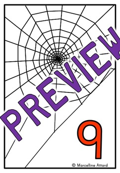 HALLOWEEN MATH CENTER PRESCHOOL (COUNTING SPIDERS GAME) NUMBERS 1-10 ACTIVITY