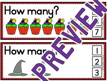 HALLOWEEN ACTIVITIES KINDERGARTEN (NUMBERS TO 10 COUNTING CLIP CARDS)