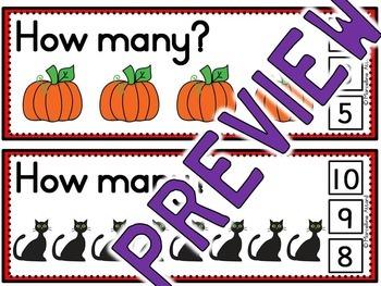HALLOWEEN ACTIVITY KINDERGARTEN, PRESCHOOL (NUMBERS TO 10 COUNTING) OCTOBER MATH